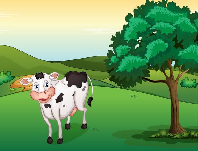 Una vaca sonriente