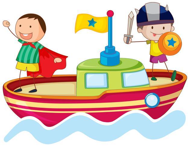 kids playing on ship