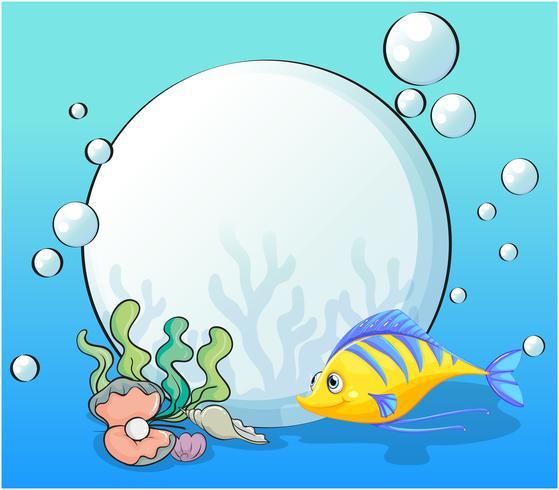 Un poisson et des coquillages sous la mer
