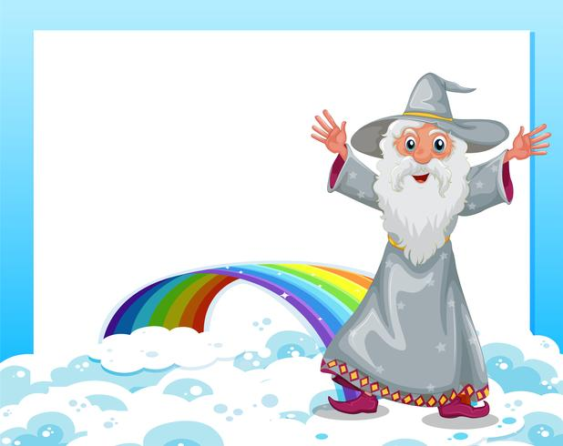 Una plantilla vacía con un asistente y un arco iris.