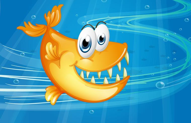 Un gran pez naranja