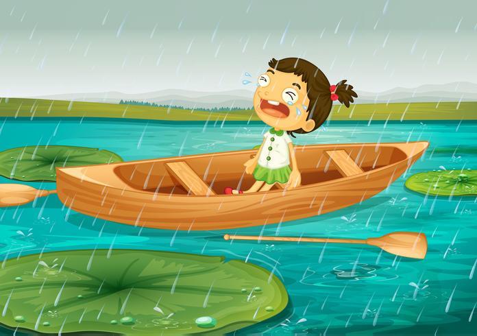 ragazza e barca