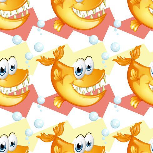 Grands piranhas souriants
