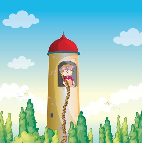 een meisje in een vuurtoren
