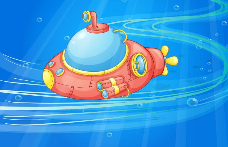 submarino bajo el agua