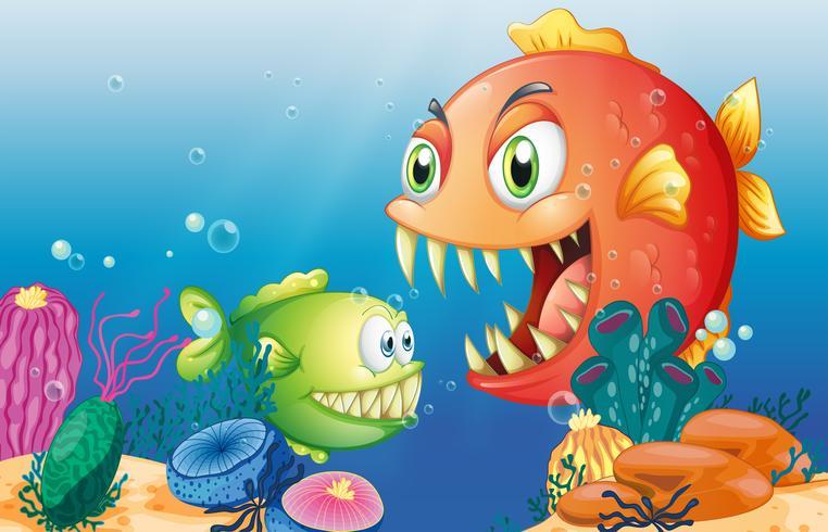 Criaturas marinhas diferentes