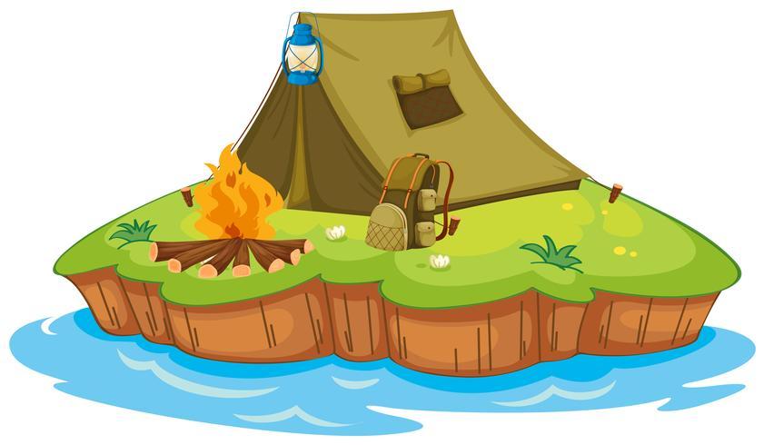 Camping sur une île