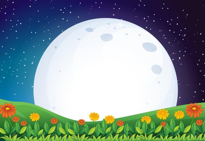 Una brillante luna piena