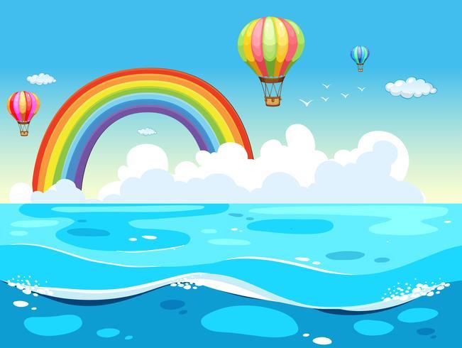 Oceano y arcoiris
