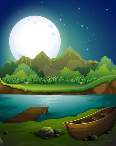 Fluss in der Nacht