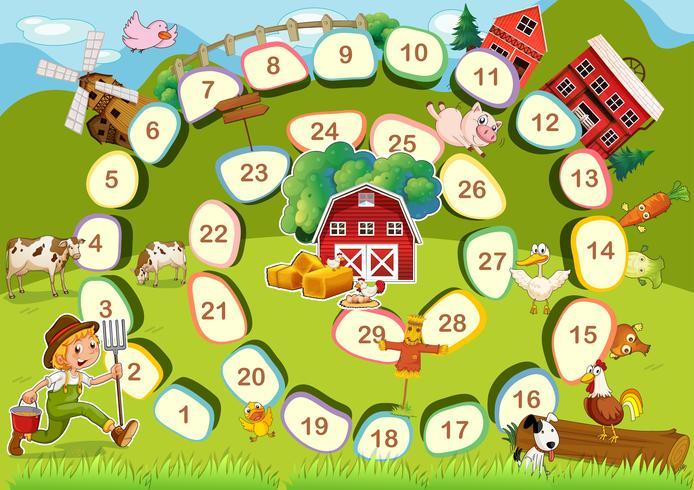 Jogo de tabuleiro fazenda