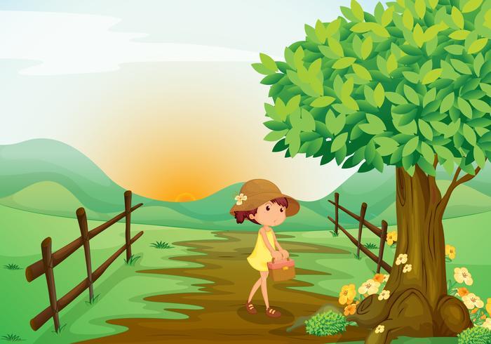 menina e paisagem