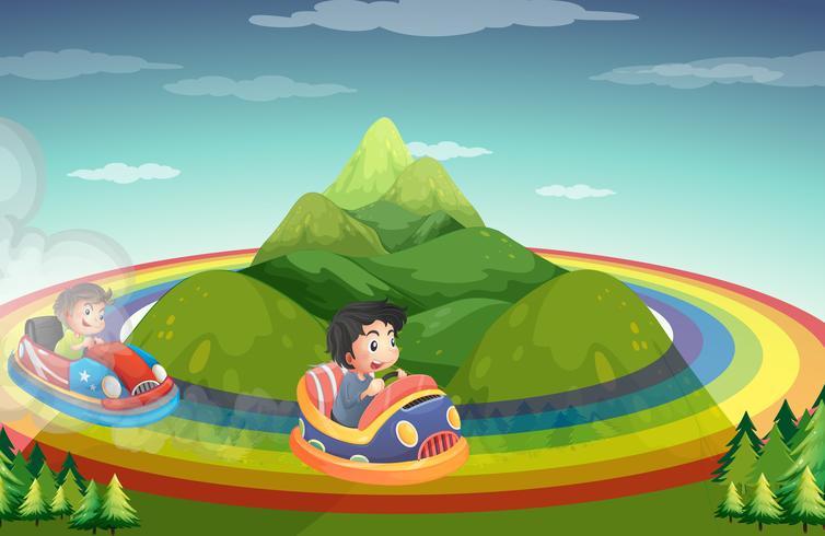 Giro in auto e rainboww
