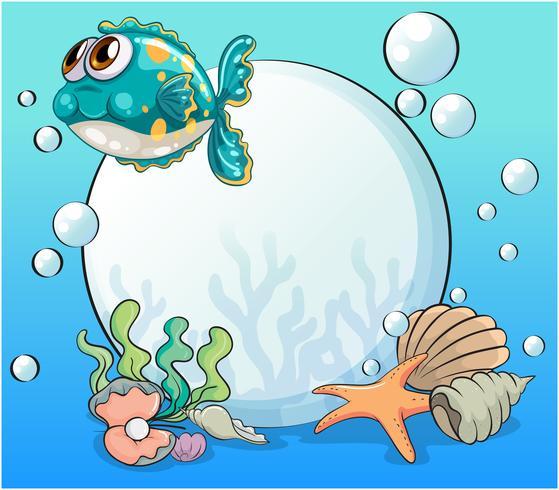 Creature marine sotto il mare
