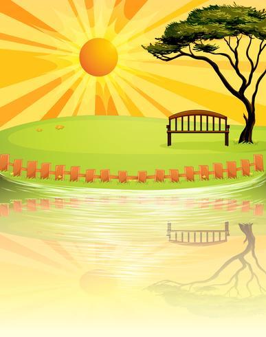 En solnedgång vid parken
