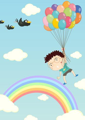 Flyter med ballonger