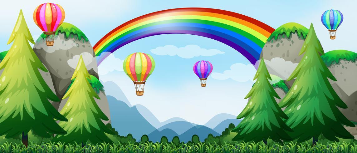 Arcoiris y globos