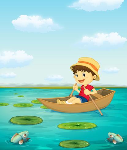 Ragazzo in barca