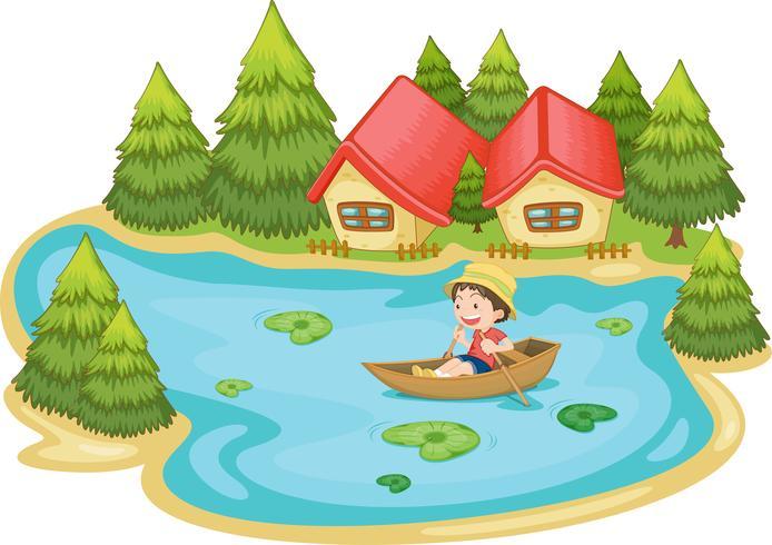 Scène d'été au bord du lac