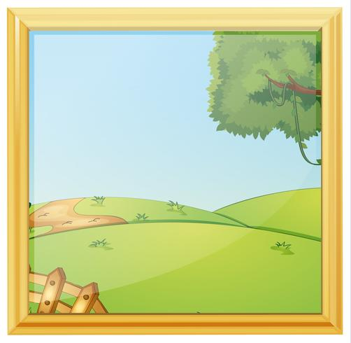 A beautiful landscape photo frame
