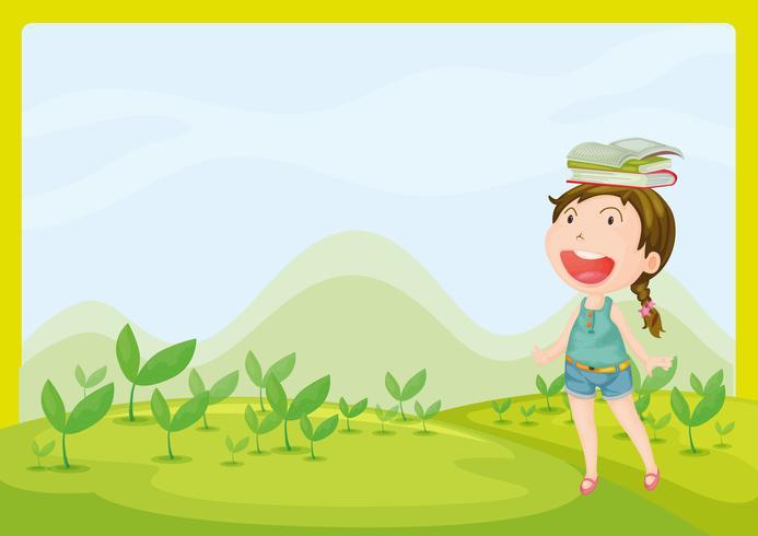 Una niña sonriente