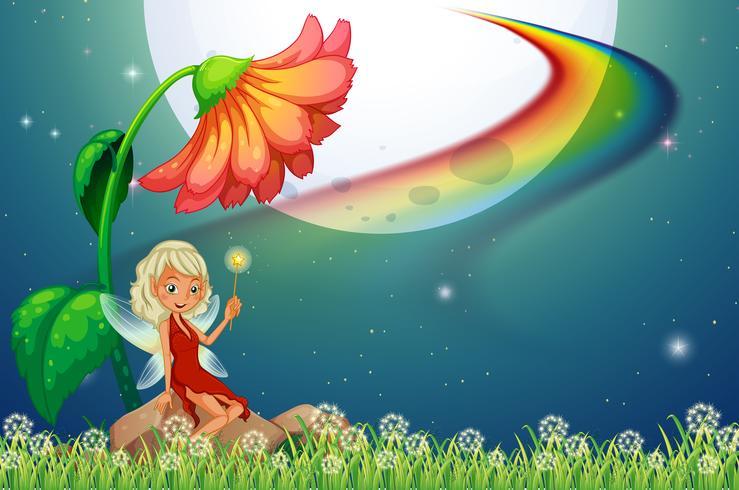 Fe och blomma