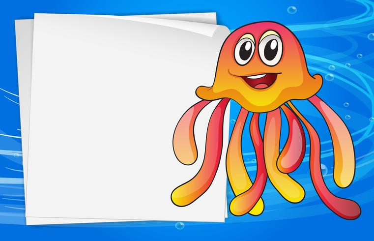 Una medusa con una señalización vacía.