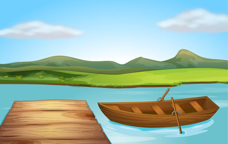 Un barco y un embarcadero.
