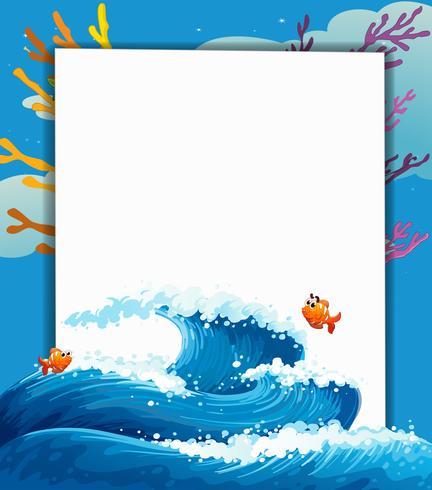 Un'insegna vuota in mezzo al mare