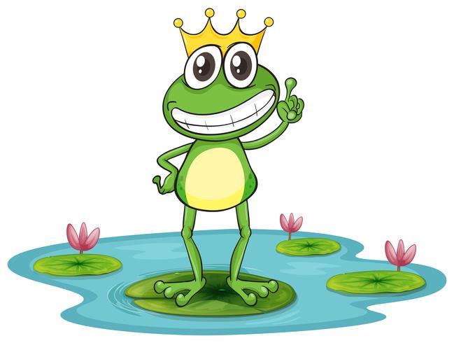 una rana y agua