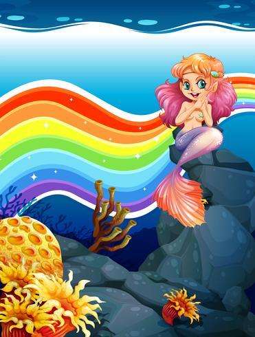 Regenboog en zeemeermin