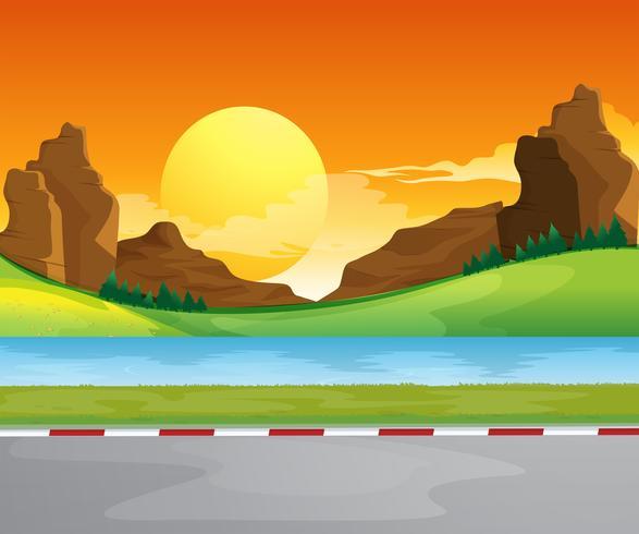 Een watervorm bij de weg