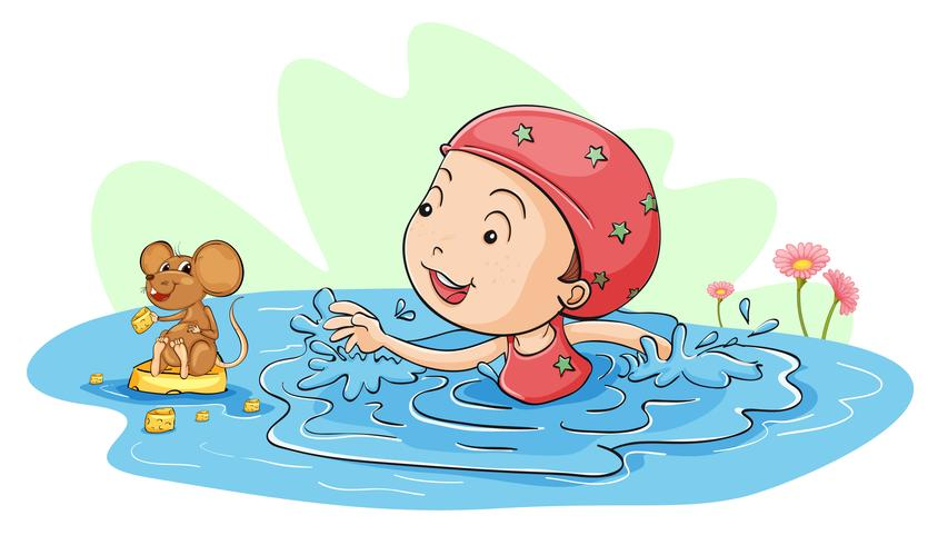 Swimming with a mouse