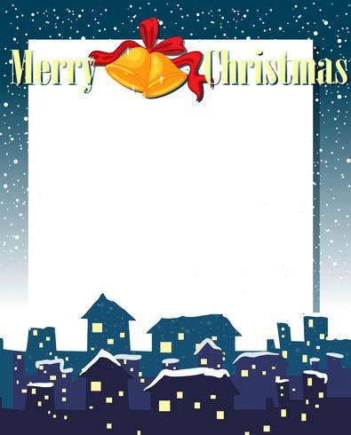 En tom julkortsmall vektor