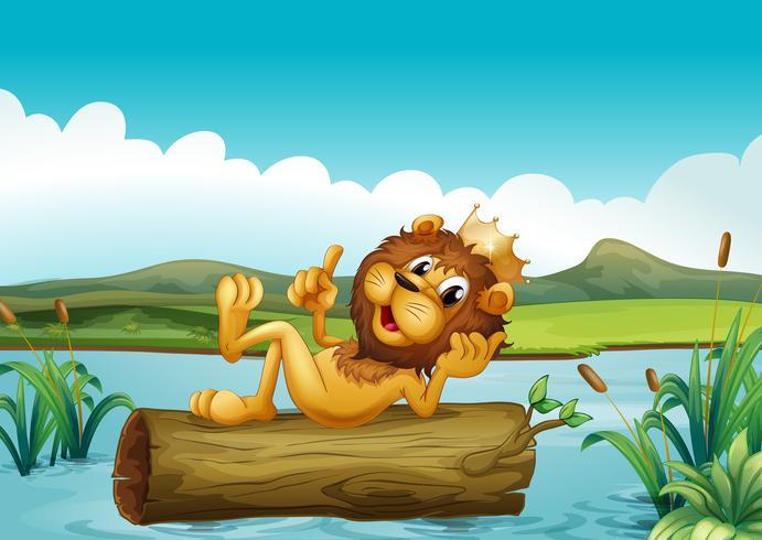 Un baule con un re leone