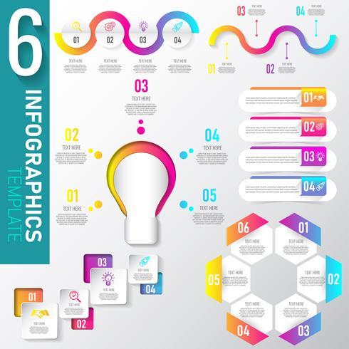 Set di dati di elementi di infografica