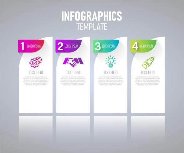 Elementos modernos infográfico vector design, modelo de gráfico com o passo. ilustração do vetor