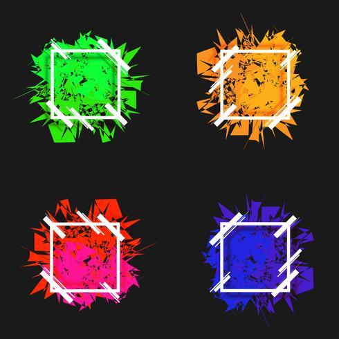 Collection d'images de vecteur forme abstraite bannière