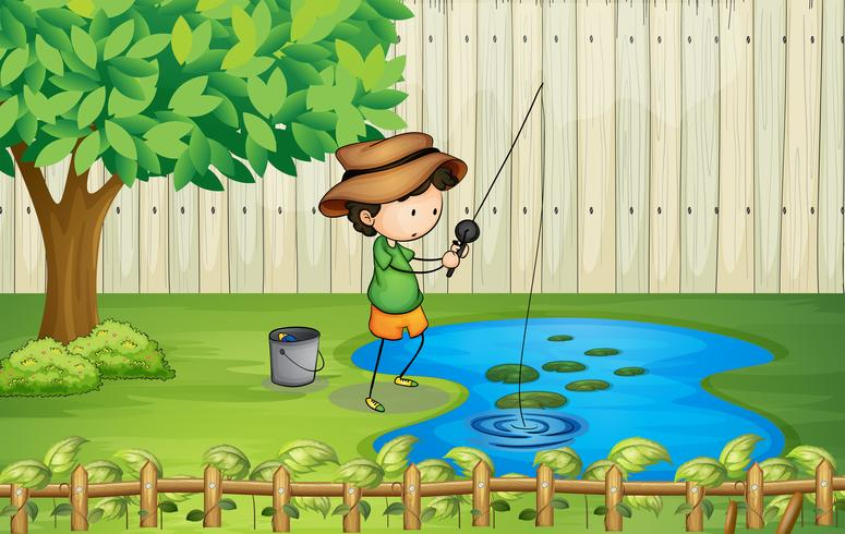 Little Boy Fishing In The Map, Fishing, Fishing Tools, Cartoon Characters  PNG and Vector with Transparent Background for Free Download