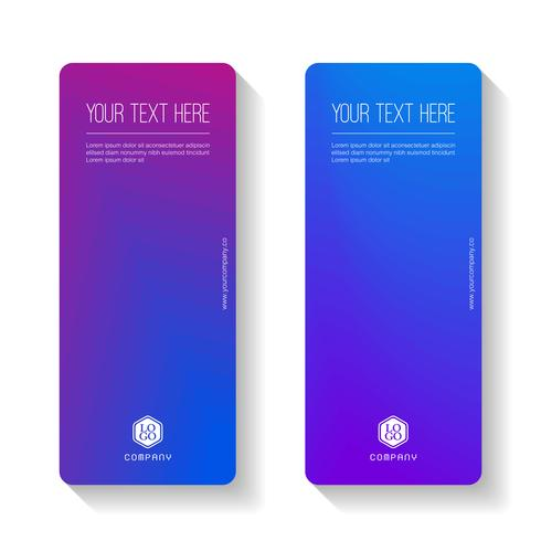 Colorful Gradient Abstract business banner template, vertical banner cards set. vector
