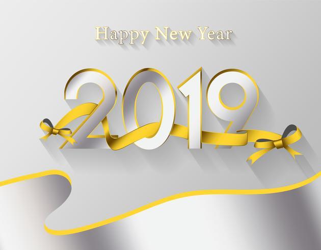 Fundo moderno feliz ano novo 2019 vetor