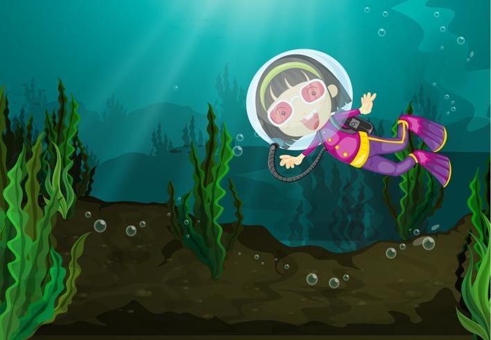 Dykning tjej