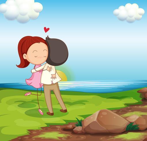 Lovers Dating am Flussufer