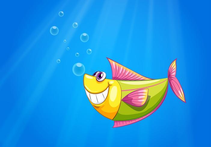 Een vis in de zee