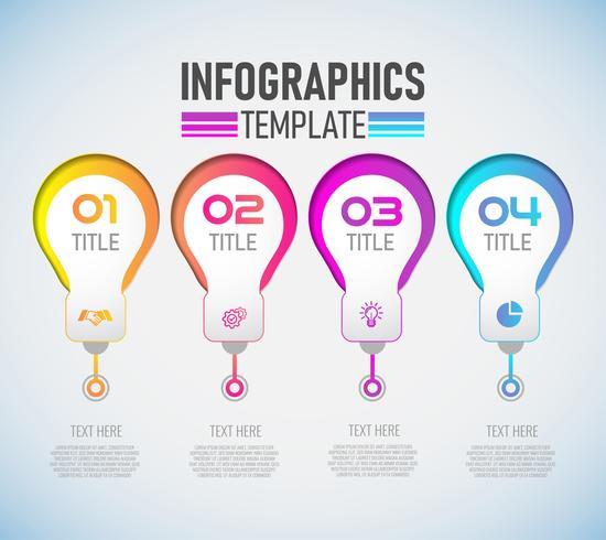 Vector moderna infografía 3d etiqueta