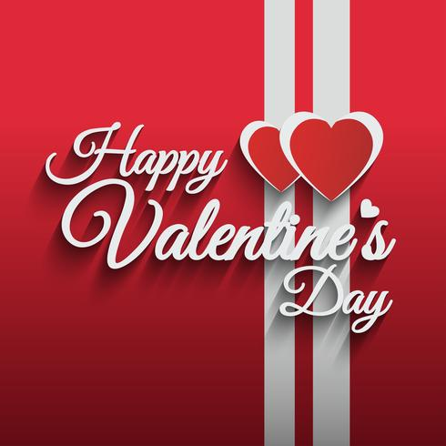 Happy valentines day vector hand lettering style.