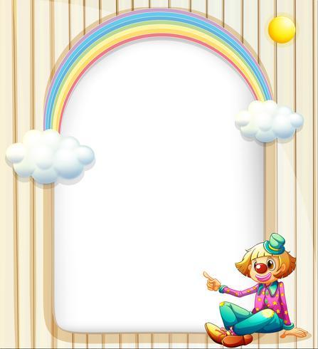 Une surface vide avec un clown féminin vecteur