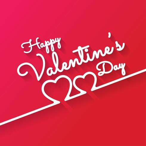 Happy Valentines Day romantic greeting card vector