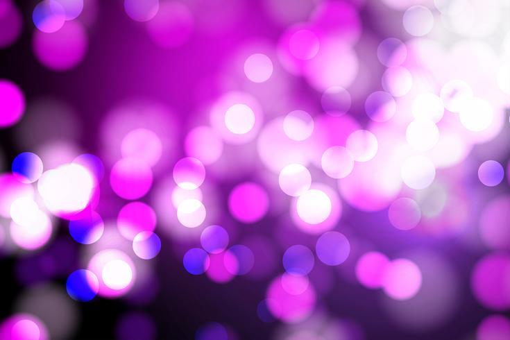 Rosa abstracta y azul borrosa luz, luces de bokeh y fondo de brillo Vector