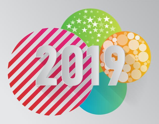 Vector feliz año nuevo 2019